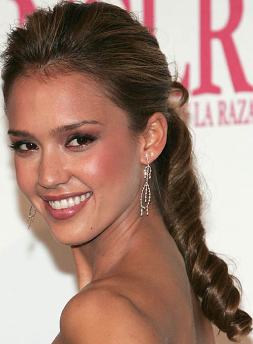 Celebrity Ponytail Hairstyle Pictures Long Hairstyles