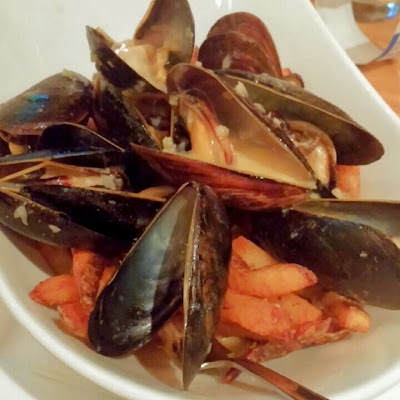 Mussels & Frites with Chipotle Lobster Bisque - The MINT Gastropub - Bethlehem, PA | Taste As You Go