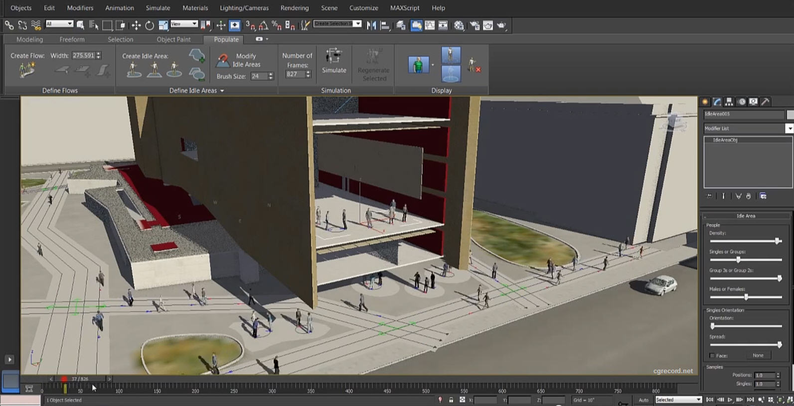 3dsMax Sneak Peek video: Populate