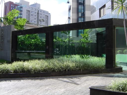 20- Muro De Vidro, Detalhes Em Preto! Se Fosse Fazer Assim Na Minha ~ Cerca Madeira Jardim Curitiba