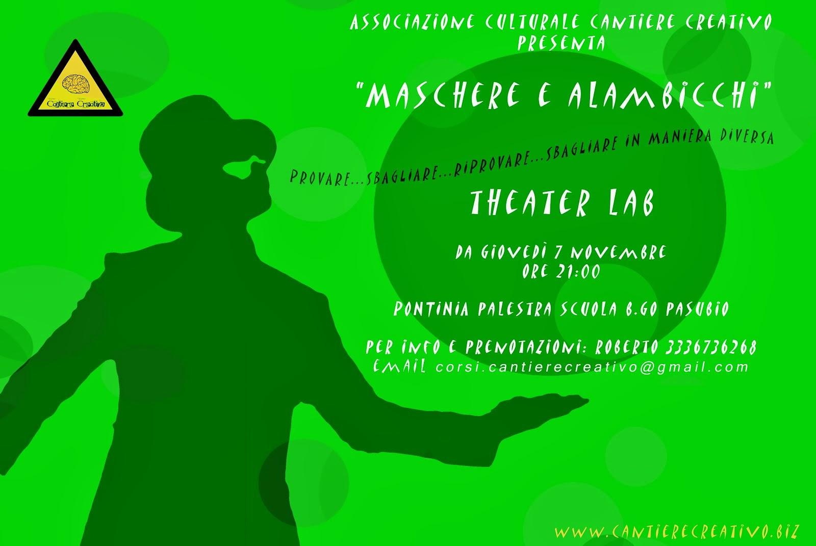 Dal 7 Novembre Lab Teatrale con Roberto Repele