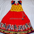 Kids Skirt with Kalamkari Work