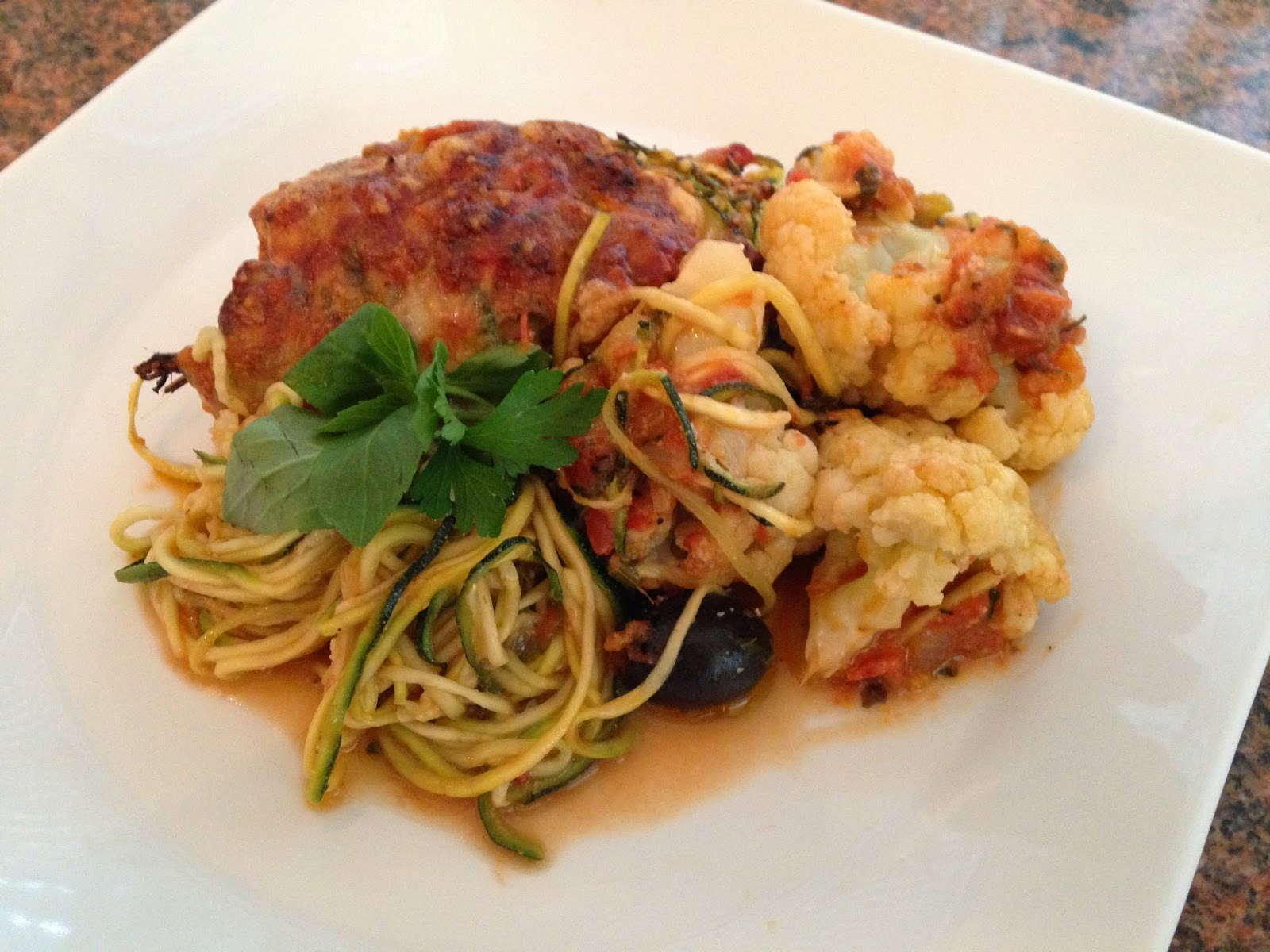 Zucchini Noodles With Arrabiata Chickpea Sauce Recipe — Dishmaps