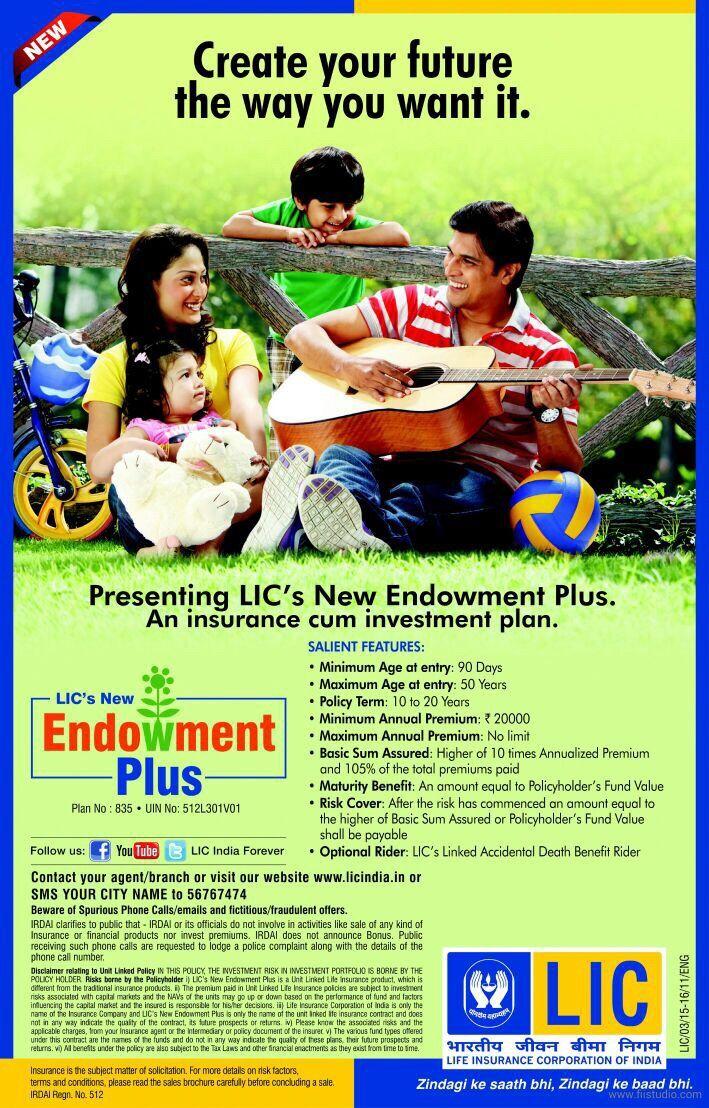 Benefits of LIC Endowment Plus ULIP Plan No 835