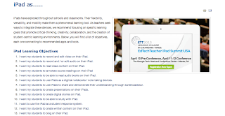 Screenshot from EdTechTeacher Blog