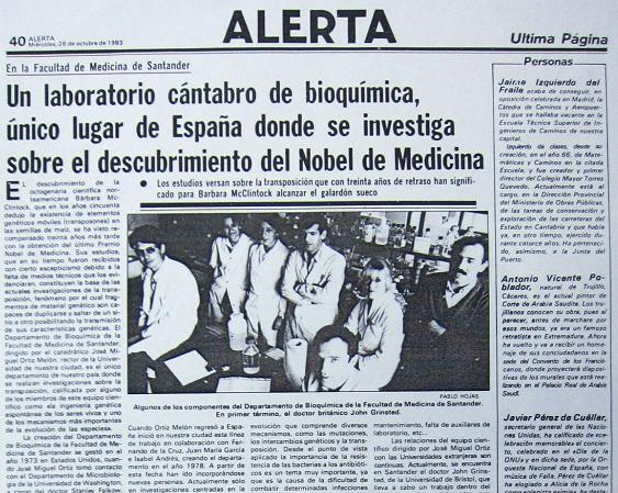 Esmeralda Díaz-Aroca y sus compañeros del Laboratorio de Genética Molecular de la Facultad de Medicina de la Universidad de Cantabria