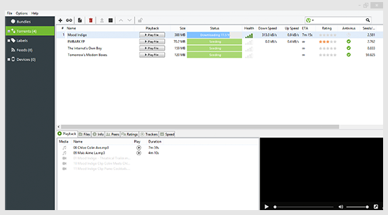 uTorrent Client Interface