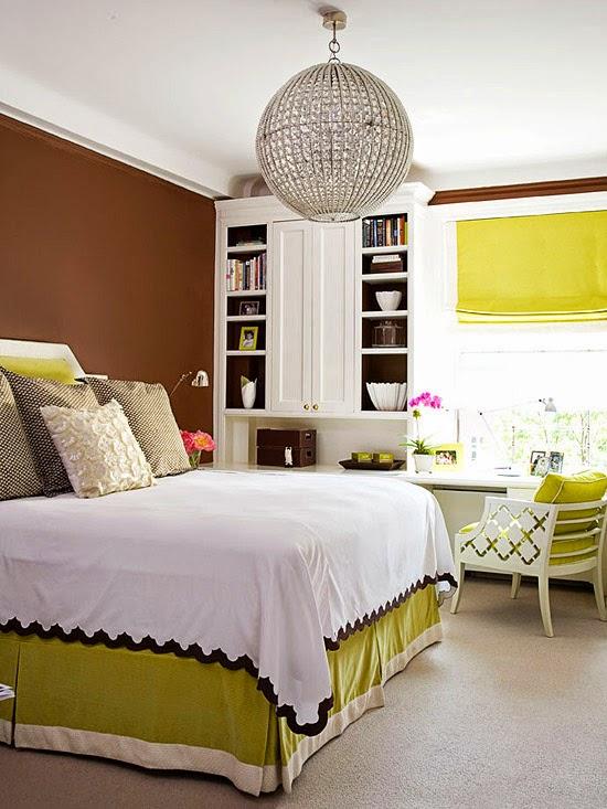 Habitaciones en marr n y verde ideas para decorar dormitorios - Habitacion marron ...