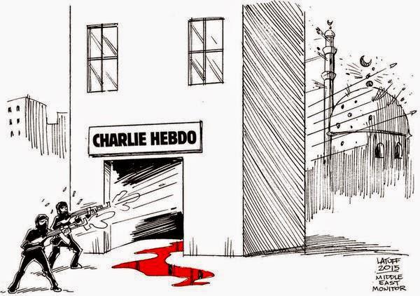 #JeSuisCharlie  #JeSuisAhmed  Charlie Hebdo Attack, Paris