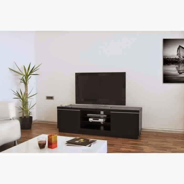 meuble tv noir pas cher meuble tv. Black Bedroom Furniture Sets. Home Design Ideas