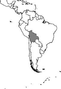 Mapa de Bolivia, ubicación en América del Sur