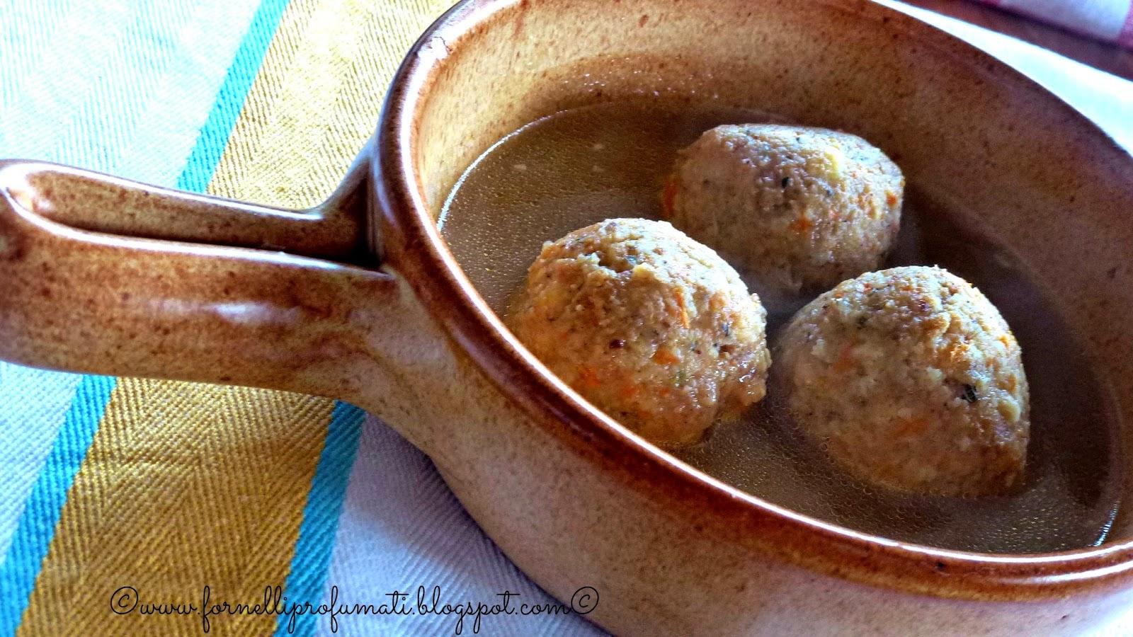 canederli alle carote e zenzero in brodo di pollo - mtc n.44