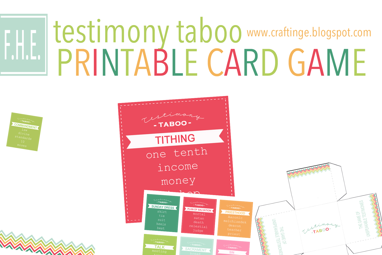 picture relating to Taboo Cards Printable known as Testimony Taboo (totally free printables!!) - CraftingeE