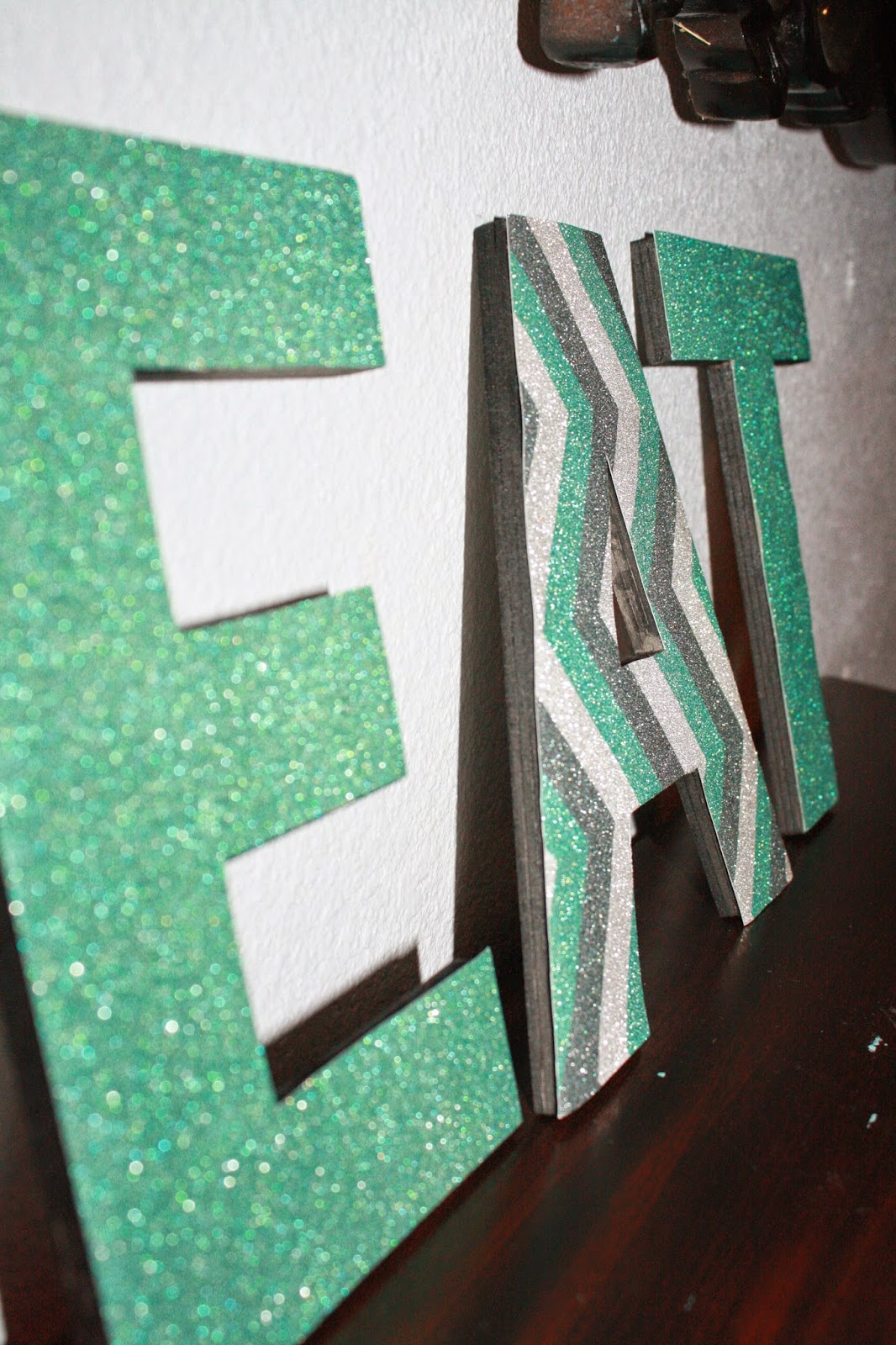 this was one of the most simple and quickest projects ive done in quite a while i bought these really cheapo thick cardboard letters at hobby lobby when