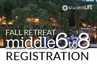 MIDDLE SCHOOL RETREAT OCT 12-14