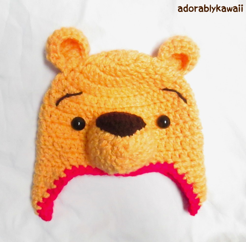 Winnie the Pooh Crochet Hat Pattern for Toddler (+ sizing ...