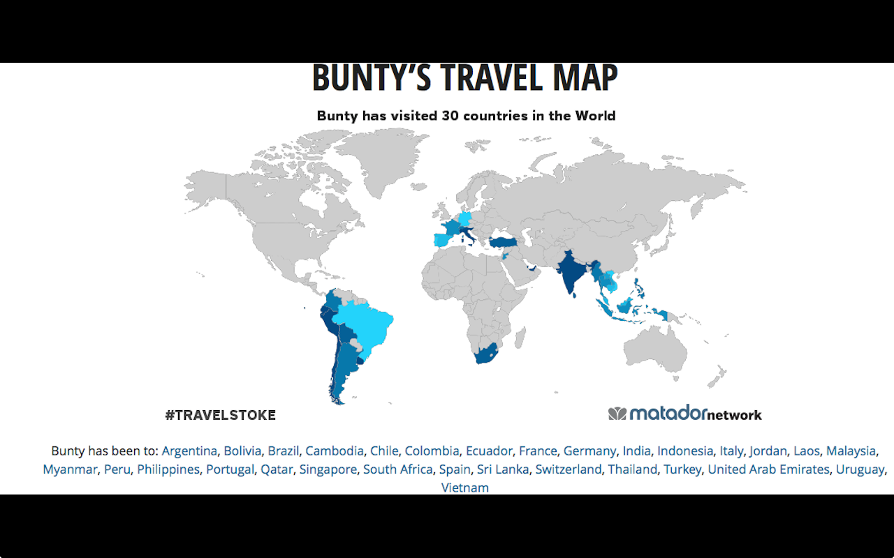 WHERE IS BUNTY?: MY TRAVEL MAP !!