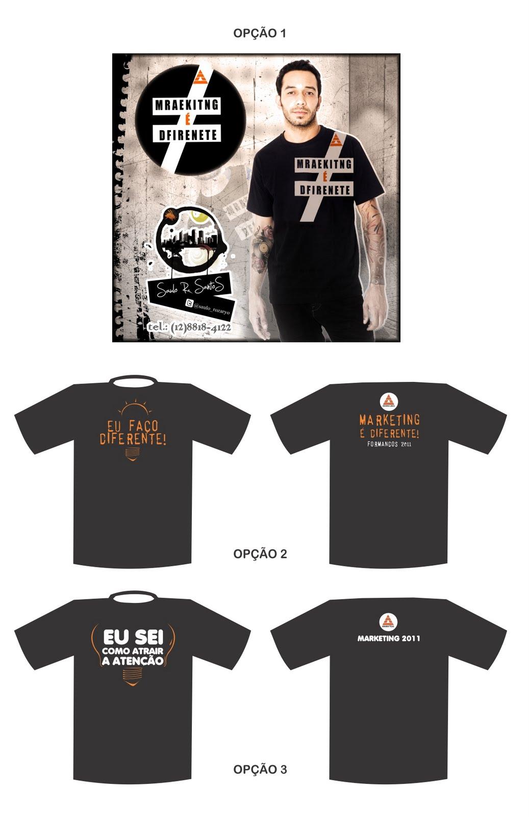 Camiseta Formatura - Opções (escolha e vote na enquete). Clique na imagem  para ampliar. 7417ee3cd7d