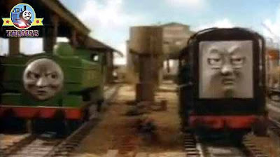 Pop Goes Thomas and his friends Duck the great western engine called railway engine Diesel the train