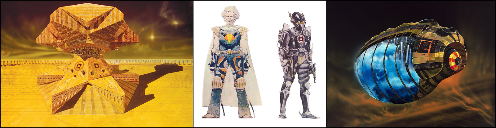 Download free concept art wallpapers by Moebius, Chris Foss, and H.R. Giger