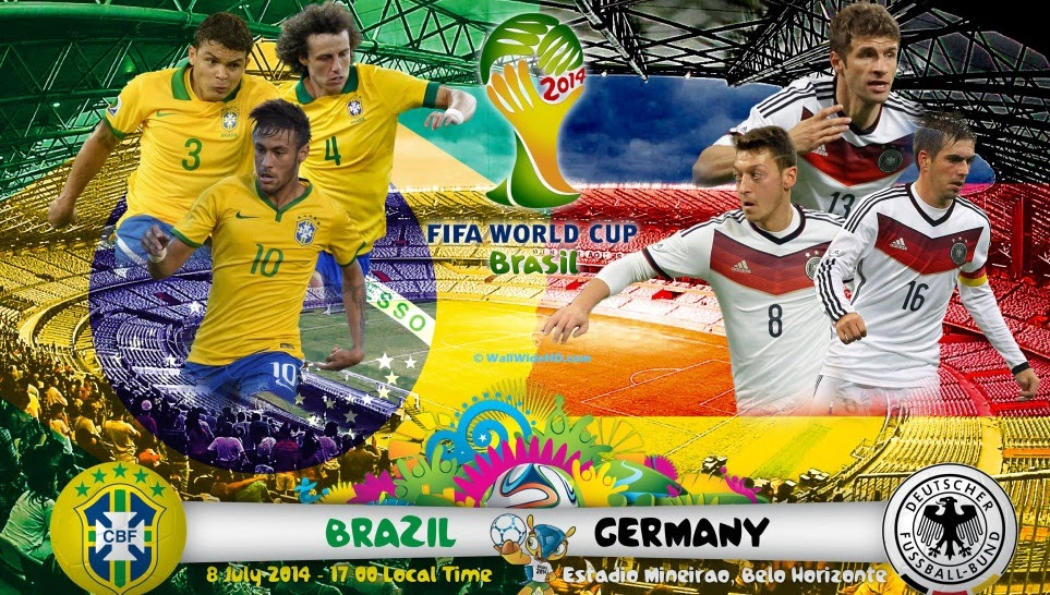 brazil vs germany semifinal in world cup 2014 brasil all