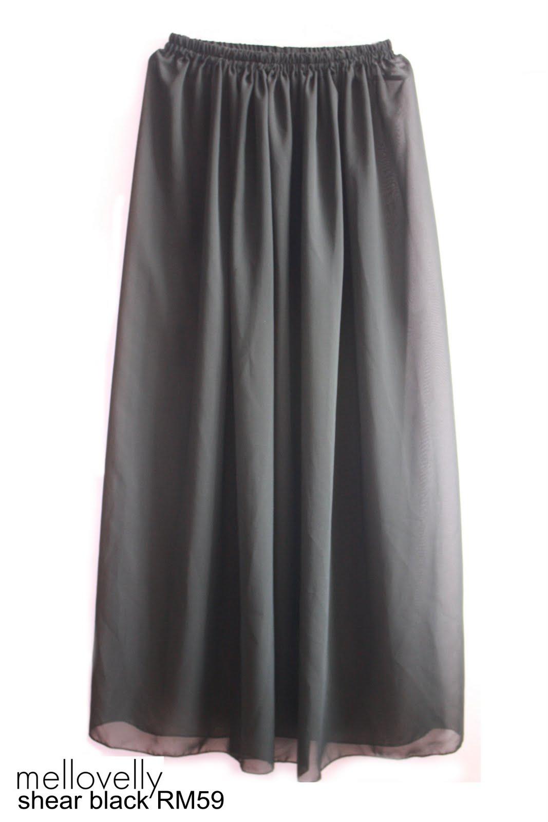 mellovelly volume 1 sheer chiffon maxi skirt