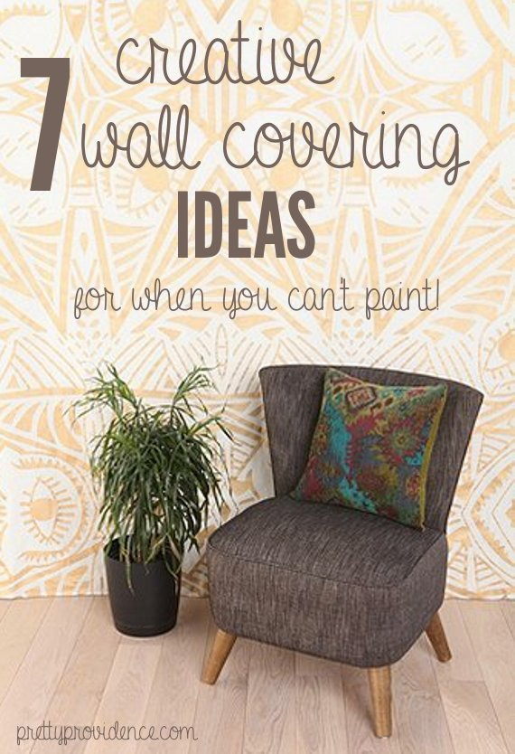 Temporary wall coverings 7 great ideas for when you can 39 t - Ideas for covering wallpaper ...