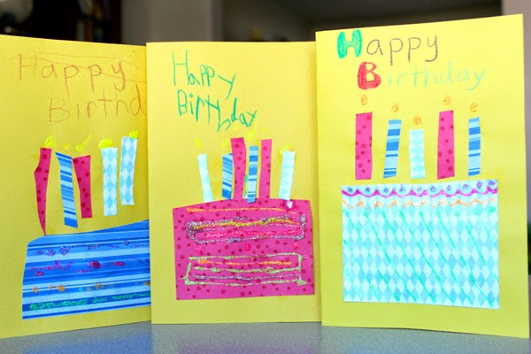 easy and simple card art for kids