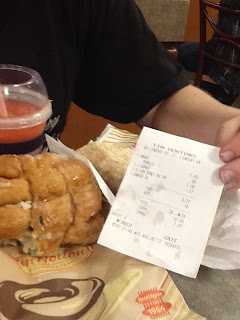 Kawartha Lakes Frugal Tim Horton's meal features HUGE BLUEBERRY TURNOVER