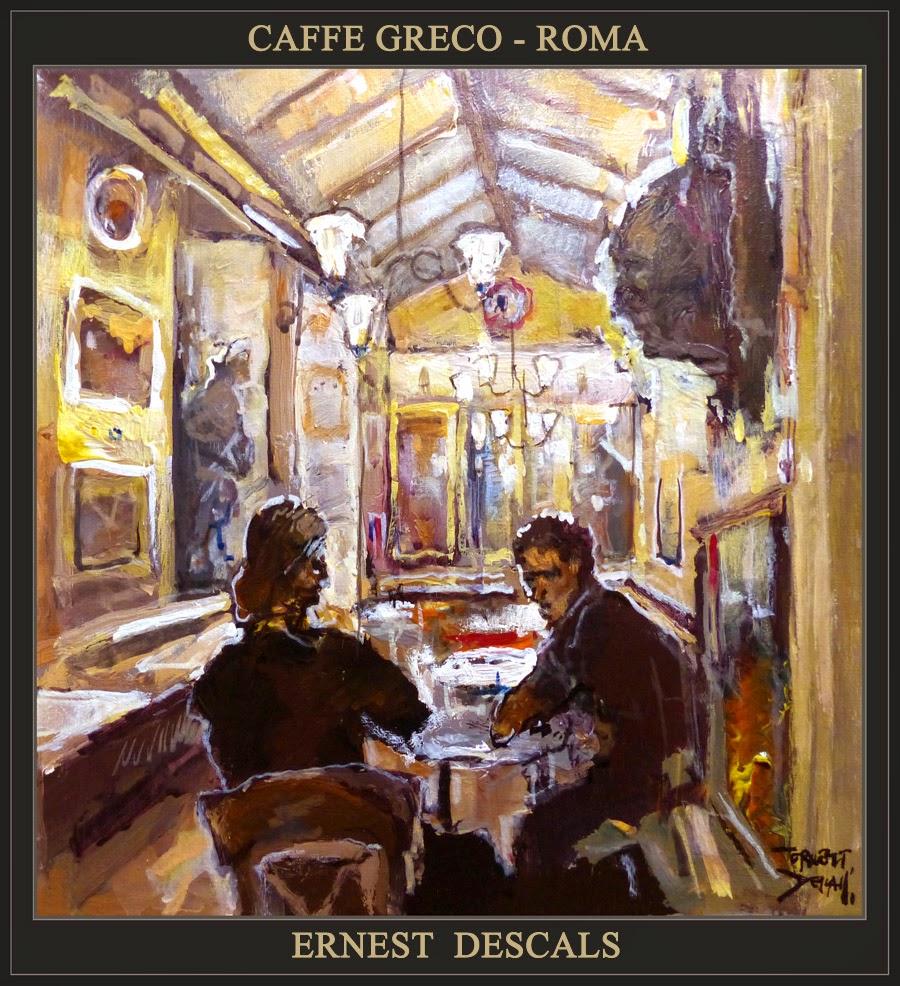 CAFFE GRECO-ROMA-PINTURA-CAFETERIAS-ARTISTA PINTOR ERNEST DESCALS-