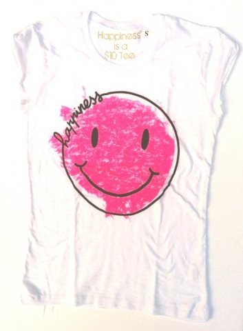 tshirt happiness pink smile