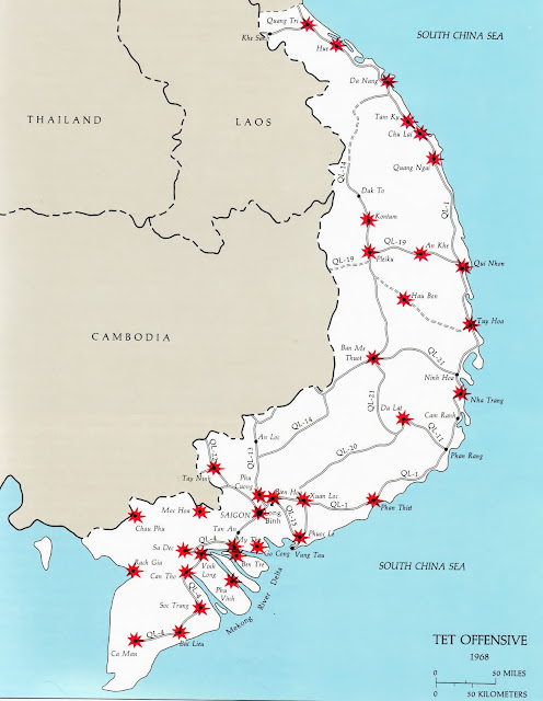 Main Tet Offensive Jan-Feb 1968 Areas affected South Vietnam