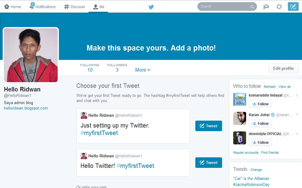 Cara Mudah Membuat Akun Twitter Terbaru