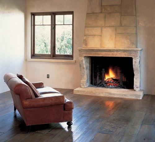 Traditional style Pre-Fab Fireplace
