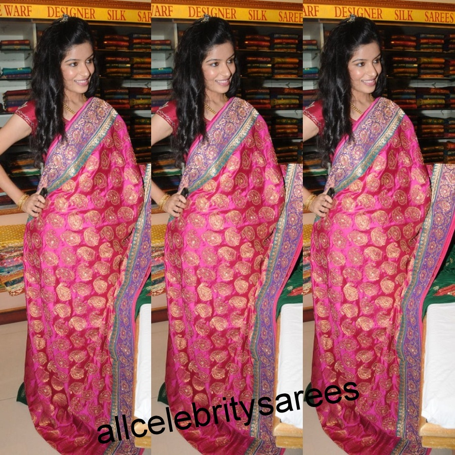 Half Saree Designers in Hyderabad http://allcelebritysarees.blogspot.com/2012/09/hyderabad-model-with-pink-color-banaras.html
