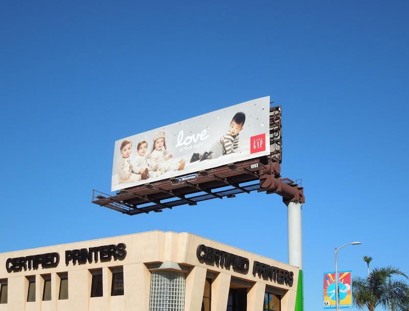 Love first sight Baby Gap billboard