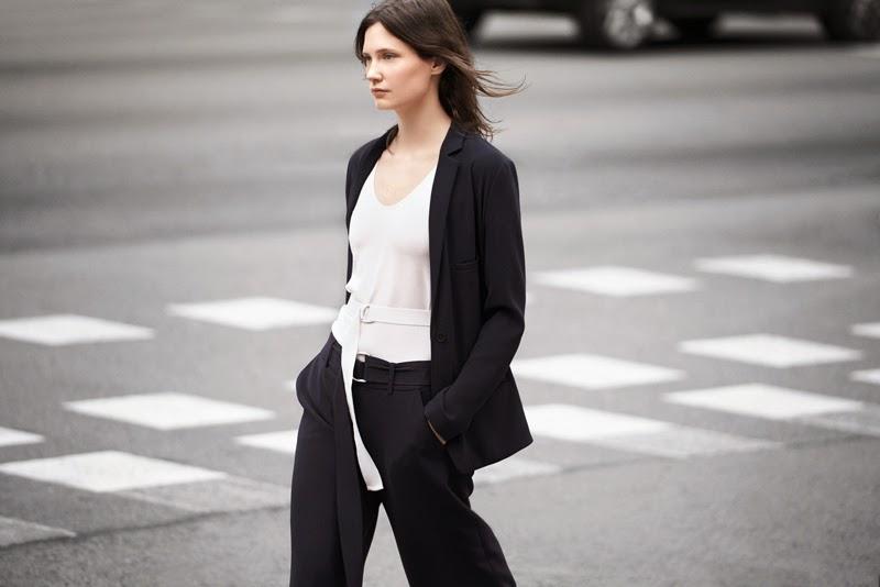 Wide belted pants Celine Zara