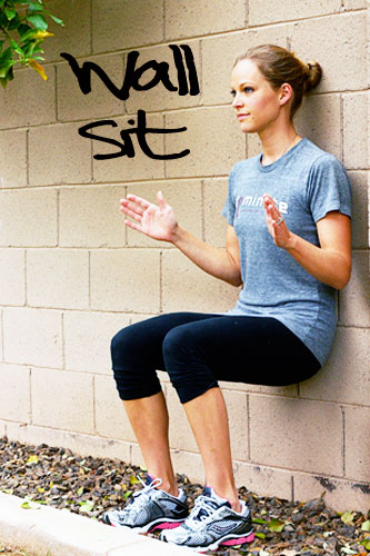 Wall Sit Challenge Lean Legs March Challe...