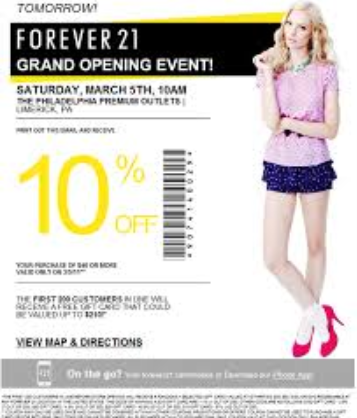 Forever 21 Printable Coupons 2015