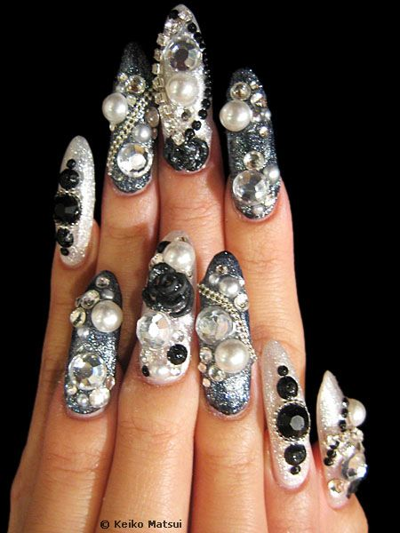 The bloomin couch japanese nail art basically anything 3d goes and it can be done in any gel acrylic or non permanent nail varnish i dont get how in the world you use your hands when they prinsesfo Image collections