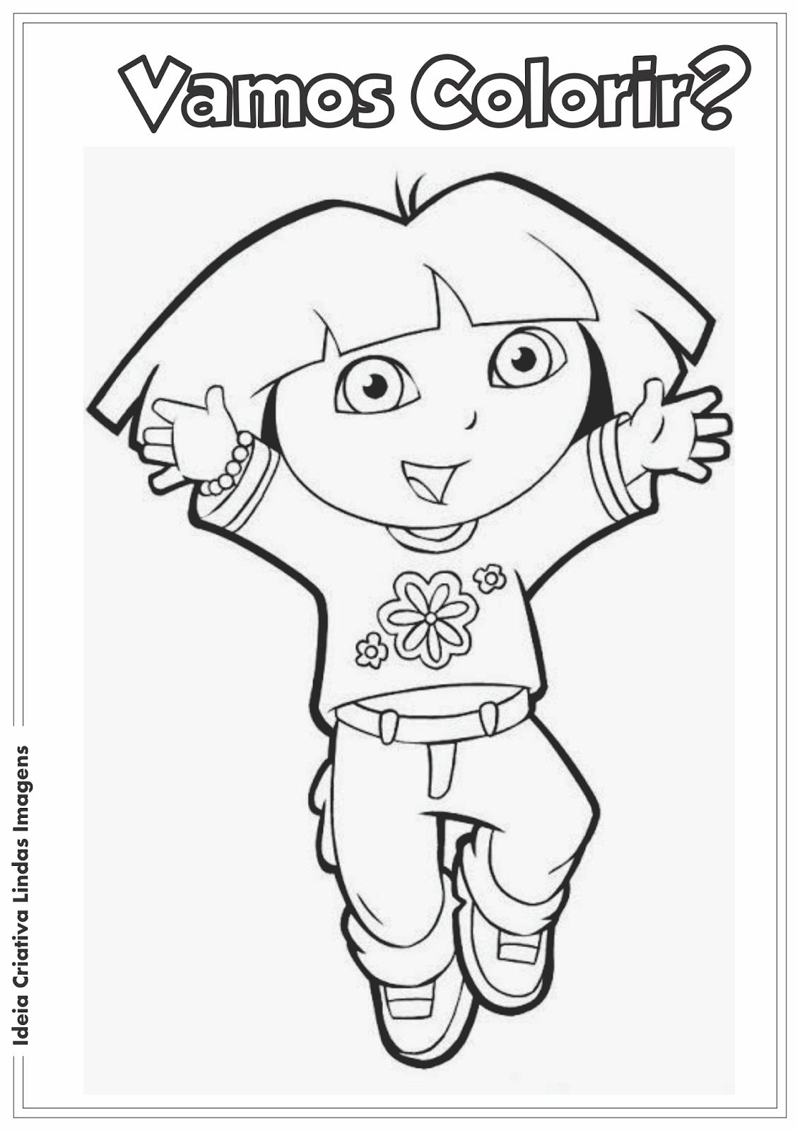 Dora a Aventureira desenho pra colorir