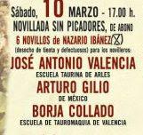 José Antonio Valencia, anunciado en las Fallas de Valencia, el 10/03.