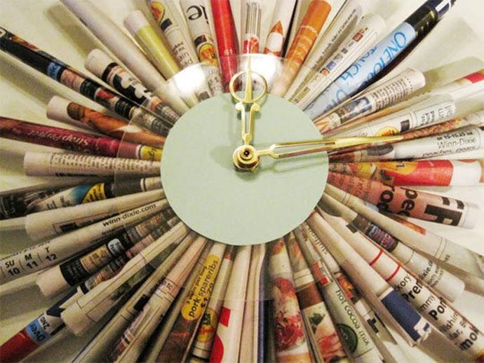 Como Hacer un Reloj con Papel Reciclado