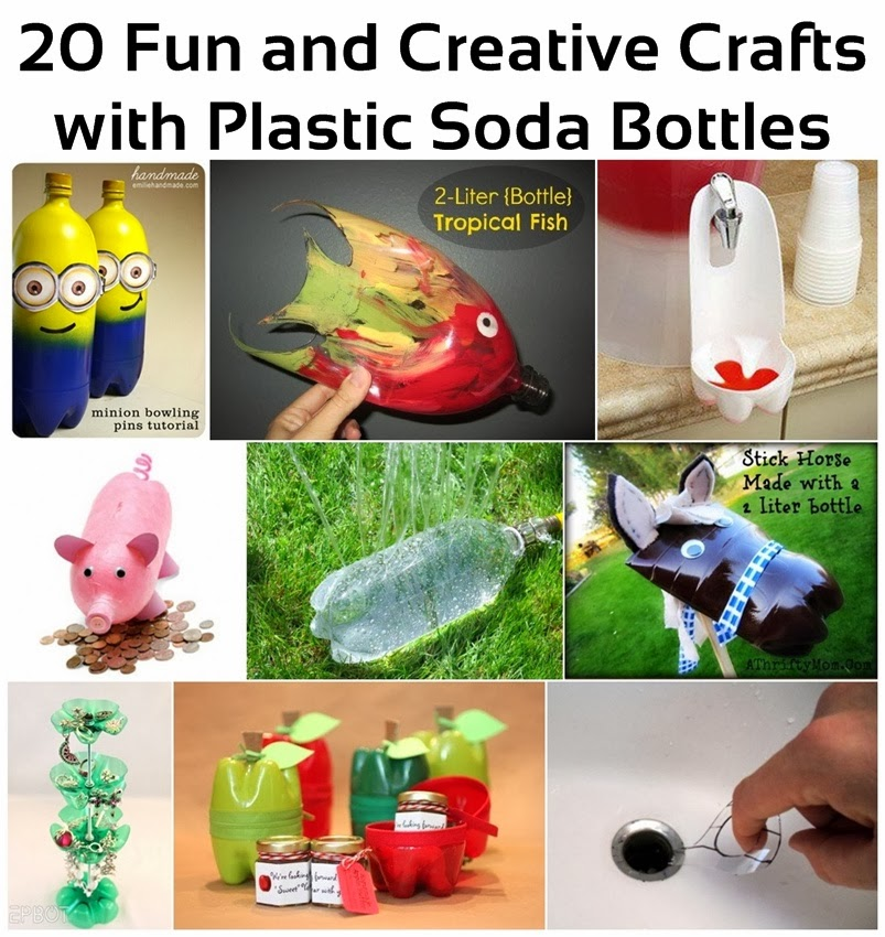 20 creative and fun crafts with plastic soda bottles for Creative use of plastic bottles