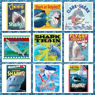 http://firstgradefoundme.blogspot.com/2015/07/shark-week-9-shark-books-for-kids.html