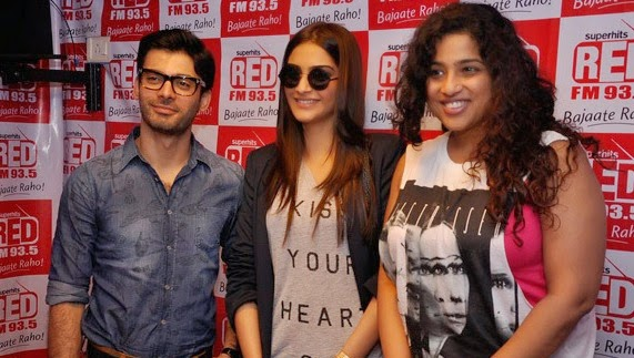 Khoobsurat  starcast Sonam Kapoor and Fawad Khan promote their movie at Red FM Studio