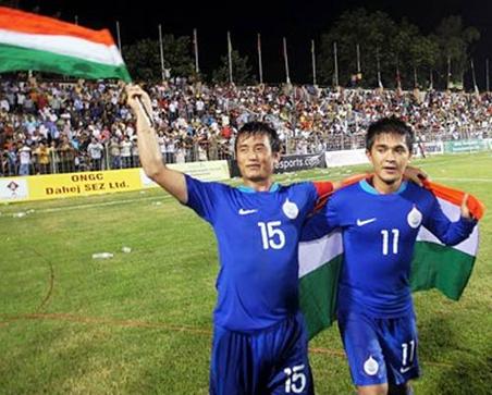 baichung bhutia and Sunil Chhetri