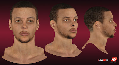 NBA 2K13 Stephen Curry Cyberface Patch