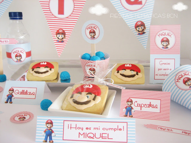 Kit de fiesta imprimible super mario