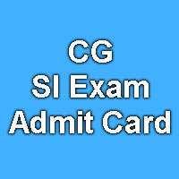 Chhattisgarh CGPEB SI Exam Admit Card 2015